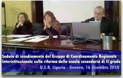 Insediamento gruppo coordinamento regionale