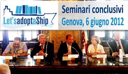 Seminari conclusivi delle attività del progetto Let's Adopt a Ship
